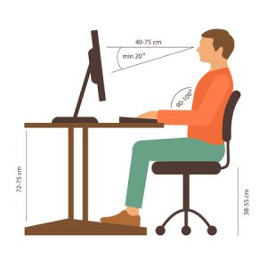 sitting posture, back muscles